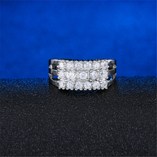 New Silver Color Ring Classic Exquisite Temperament Female Models Fashion Inlaid Crystal Zircon Hand Jewelry