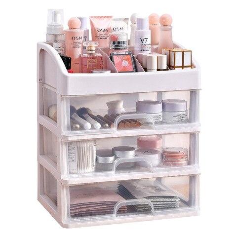 caixa de armazenamento plastica cosmetica do revestimento