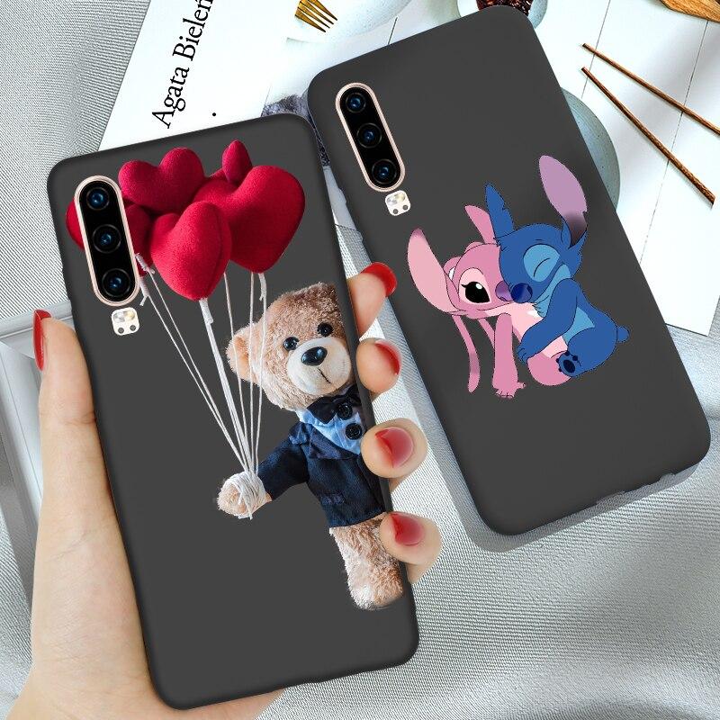 Cartoon Case FOR Huawei P40 Lite E P20 Lite P30 PRO P10 P9 P Smart Z Plus 2018 2019 Mate 20 10 Nova 5T Y5 2018 Y6 Prime Cover