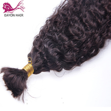Hair-Extensions Human-Hair Braiding Curly Bulk Bundle No-Weft Remy EAYON Brazilian