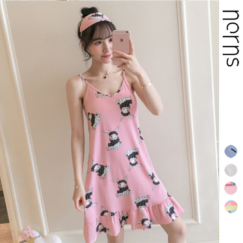 Norns Silk Satin Sexy Halter Dress Short Sleeveless Strap Nightwear Women Gown Night Robe Sleepwear Solid Top Night Gown Jerseys