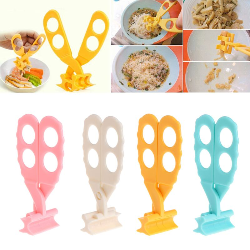 Professional Safe Care Crush Baby Kids Cut Food Shears Feeding Toddlers Scissors U50F