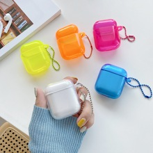 Cute Neon Candy Color Clear Case For Airpods 1 2 3 Pro Soft TPU Crystal Earphone Silikon Bag Cover for Airpods Pro Air pods Capa