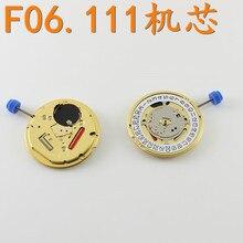 שעון אביזרי מקורי שוויצרי ETA F06.111 תנועה שלוש מחט קוורץ תנועה אינו מכיל סוללות