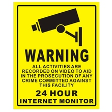 Decal-Signs Alarm Sticker Security-Camera Cctv-Video Warning Surveillance PVC Home 1pc