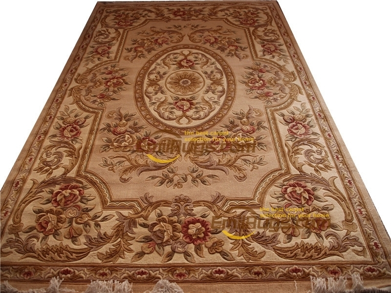 Woven Wool Carpet Wool French Carpet About Hand-knotted Thick Plush Savonnerie Rug  6.56' X 9.84'