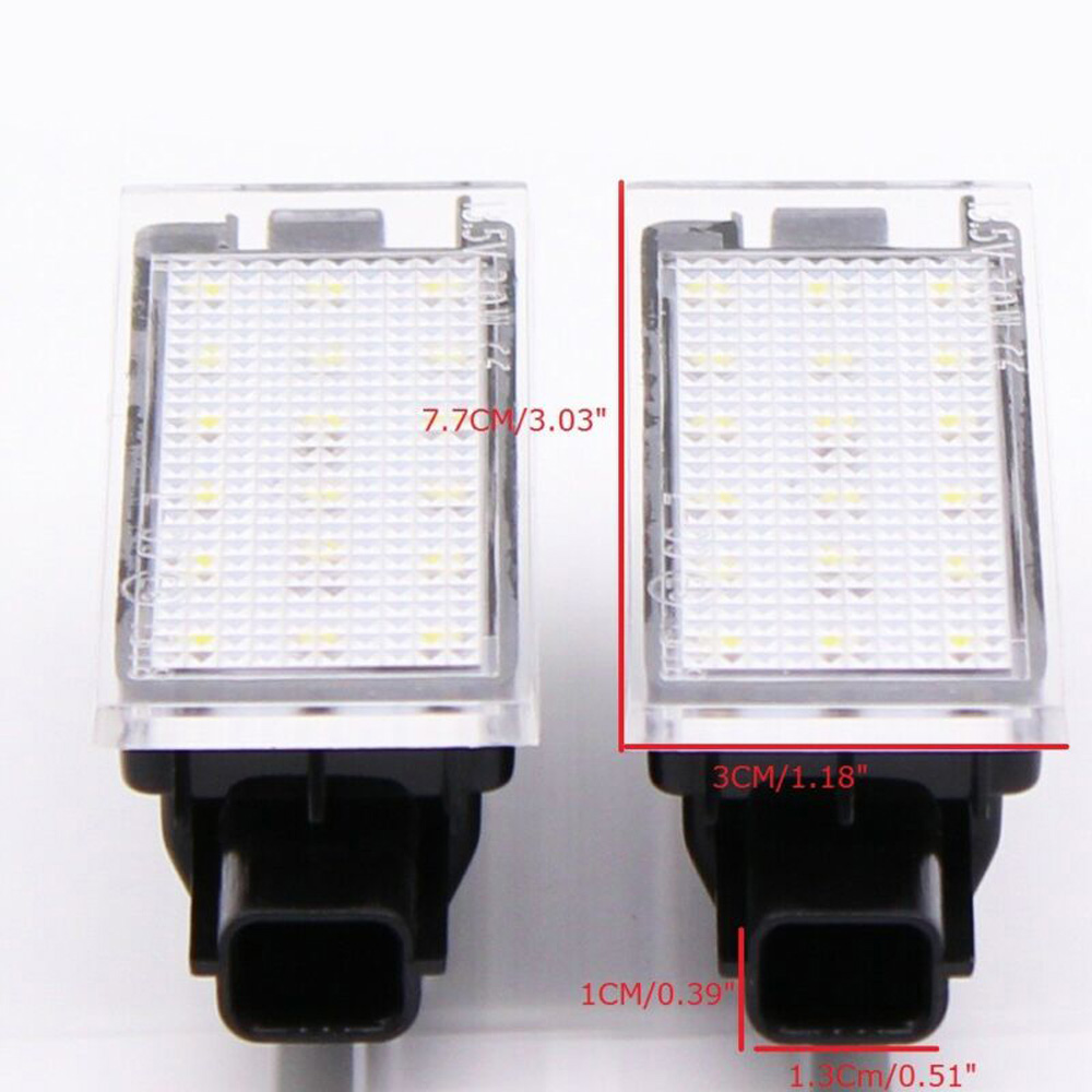 Auto Accessories 3528 License Plate Light 2pcs For Smart Fortwo 453 Coupe C453 Cabriolet A453 New