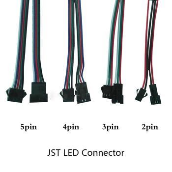 Gorący bubel 5-100 par 2 3 4 5 pin 2x15cm złącze JST męskie żeńskie złącze do sterownik lampy listwa oświetleniowa led CCTV tanie i dobre opinie YJBCo CN (pochodzenie) Rohs 2pin 3pin 4pin 5pin JST connector