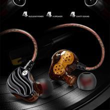 New QKZ VK1 4DD In Ear Earphone HIFI DJ Monito Running Sport