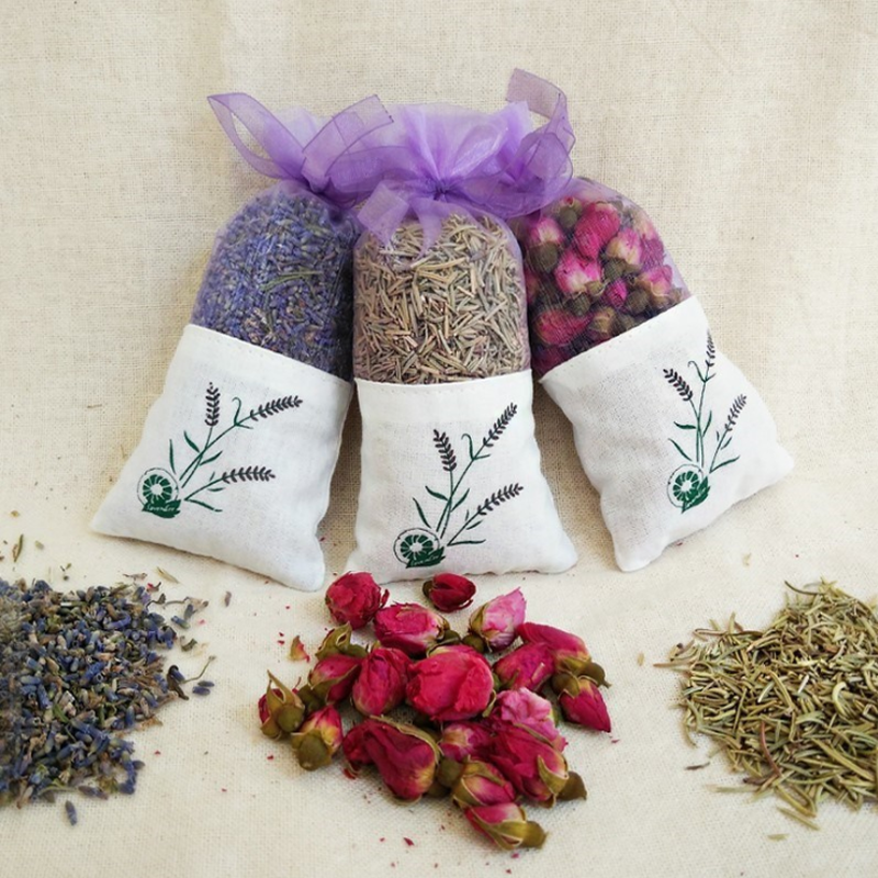 Dried Flower Sachet Jasmine-Lavender-Bud Natural Bag Wardrobe Desiccant Car-Room Air-Refreshing title=