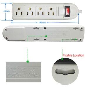 Image 2 - Multipresa 6 presa US American Plug adattatore elettrico presa omologata UL protezione da sovraccarico adattatore da viaggio con prolunga da 1.8m