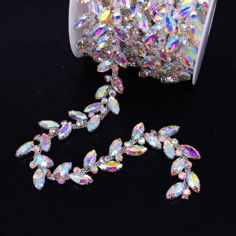 Bling Cristal Estrás Adorno Diamante Con Cuentas Accesorios de boda Motif