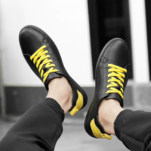 BVNOBET Plus Size Men Casual Shoes New Leather Student Sneakers High Quality Brand Leisure Soulier Homme Cuir