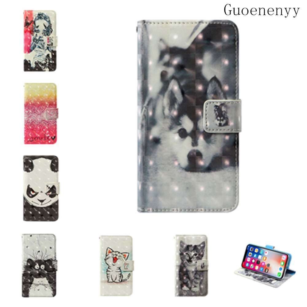 #3D Flip wallet Leather case For Doogee T5 Lite T5S DG700 Titans2 Elephone Soldier Doogee S90 Pro Ginzzu RS9602 Phone Case(China)