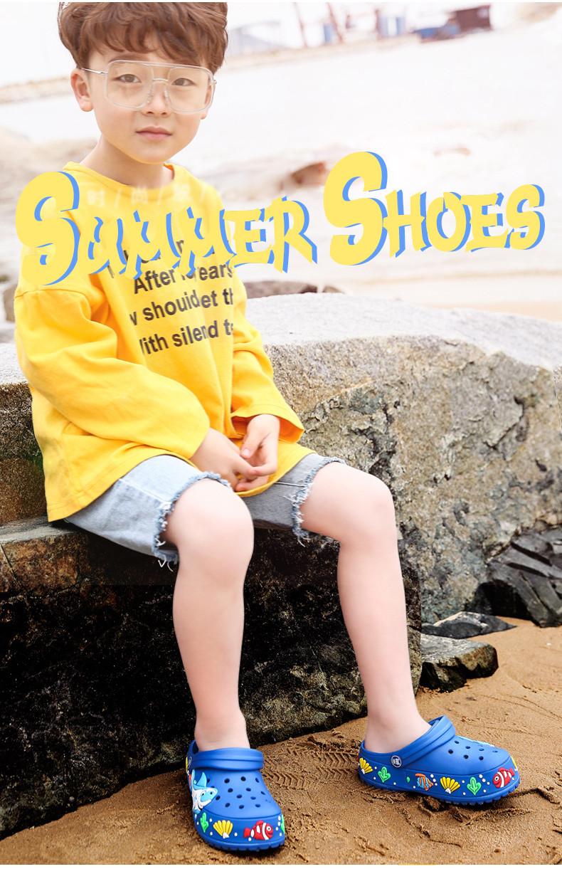 2017 New fashion children garden shoes children cartoon sandal babies summer slippers high quality kids garden children sandals (9)