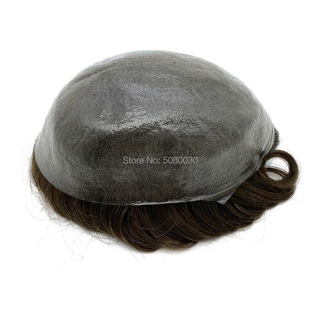 أنحف الجلد الرجال الشعر المستعار الخامس حلقة عقدة الشعر استبدال خط الشعر الأمامي غير قابلة للكشف الشحن السريع