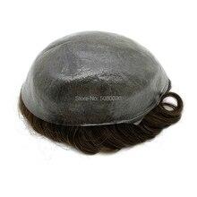 עור הדק ביותר פאה גברים V לולאה קשר החלפת שיער קדמי לגילוי שיער קו מהיר חינם