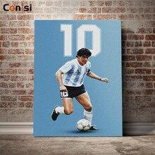 Conisi Diego Armando Maradona obrazy na płótnie wielka argentyna piłka nożna gwiazda dekoracyjna plakat nowoczesne dekoracje do domu