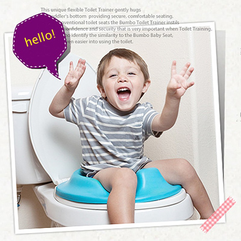 PP Material Children Kids Baby Potty Seat Solid Color Comfortable Safety 3 Colors Cushion Bathroom Toilet Seat Potty Training