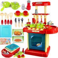 1set Portable Red Electronic Children Kids Kitchen Cooking Boy Toy Cooker Play Set