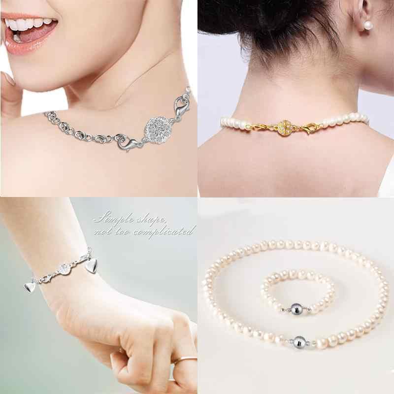 Fermoirs magnétiques à boule ronde 5 pièces pour Bracelet en cuir 16x10mm 12x6mm connecteur à boucle aimantée pour bijoux à bricoler soi-même