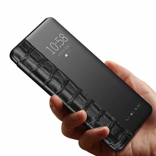 Luxury real leather crocodile texture smart flip holster for Huawei p20 / p20Pro mate10 mate20pro P30por mobile phone