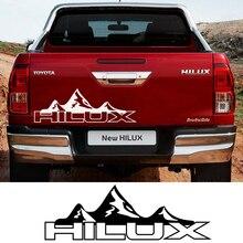 Наклейки на двери автомобиля для Toyota Hilux Revo Vigo, виниловая пленка на задний багажник, наклейка для спортивного украшения автомобиля, аксессуары для тюнинга