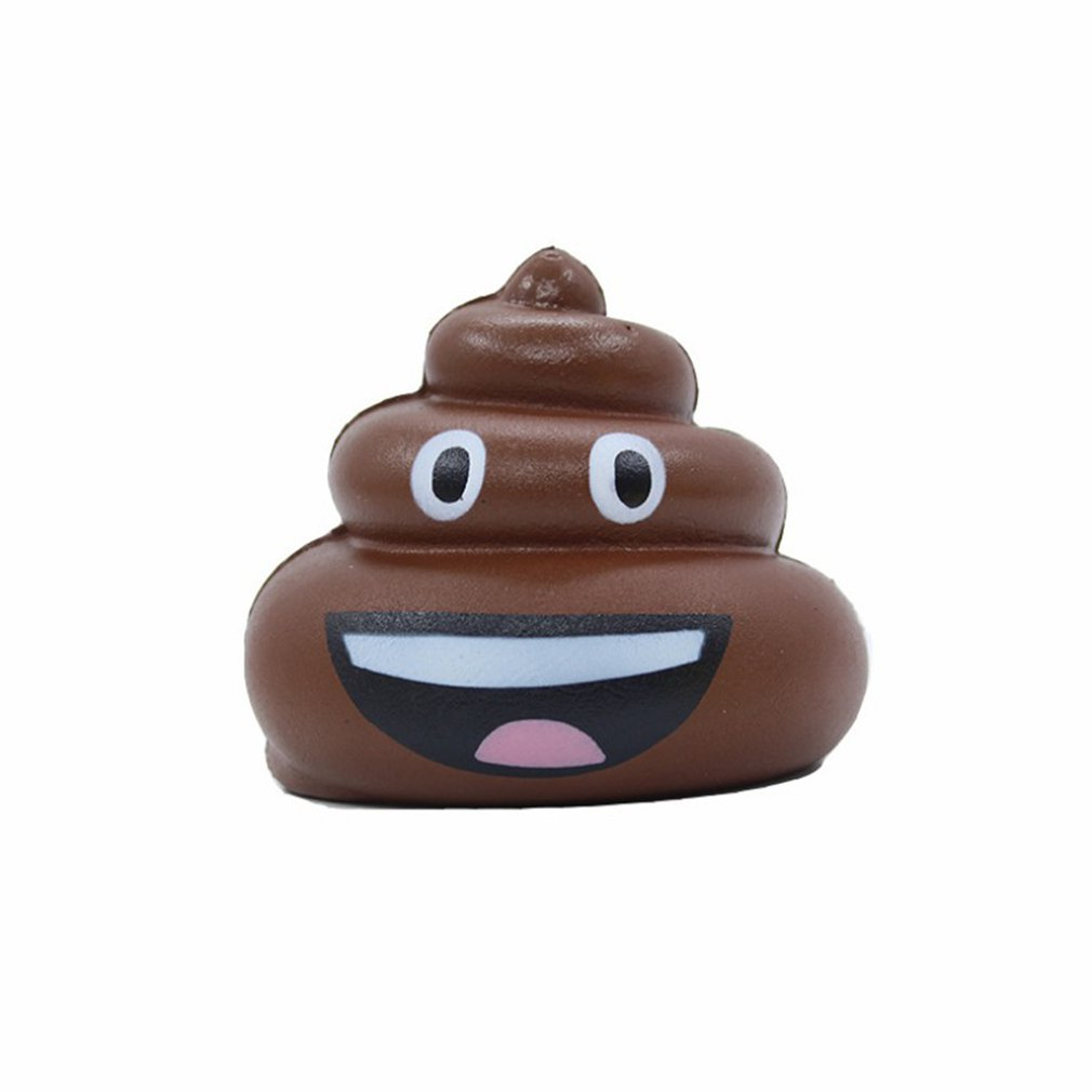 New 8cm Simulation Squishy Cute Expression Stool Slow Rising Toys Soft Squeeze Relief Stress Scented Gifts Toys