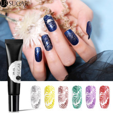 UR SUGAR 8ml Glitter Nail Stamping Gel Gold Silver Soak Off UV Polish for Art Plate Print Oil Varnish DIY