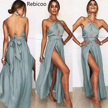Fashion Summer Women Boho Long Dress Evening Party Casual Beach Sundress Sexy Maxi Club