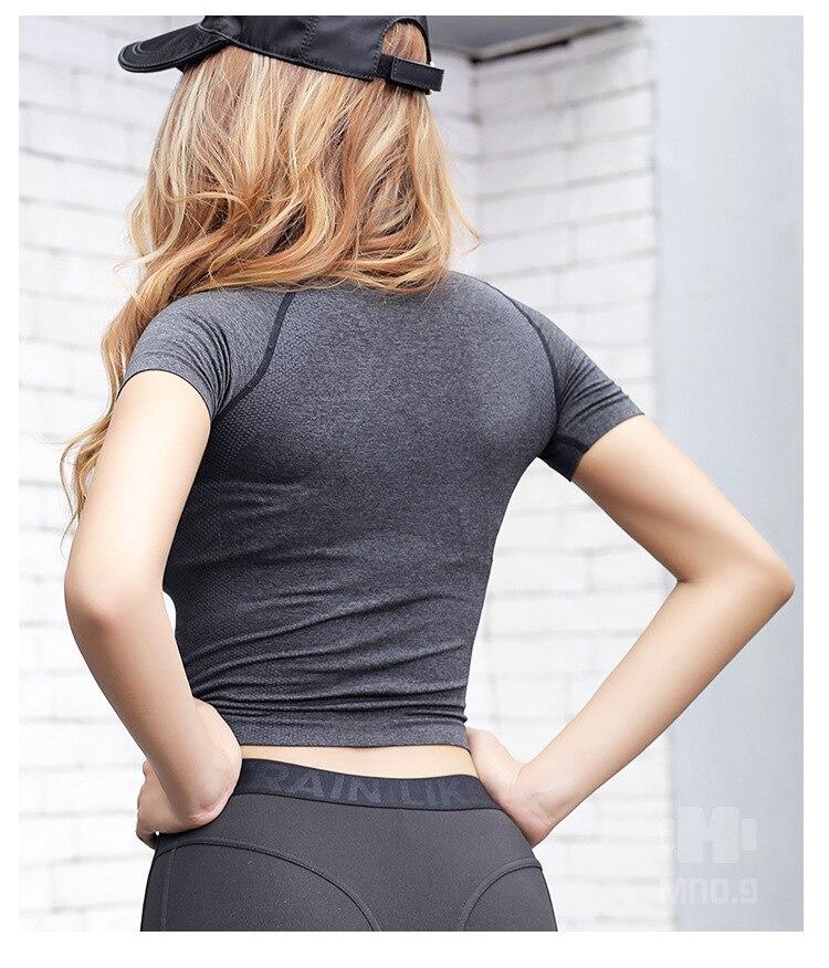 costura de energia das mulheres camisas yoga