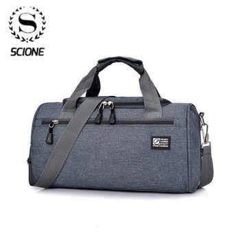 Scione Men Travel Sport Bags Light Luggage Business Cylinder Handbag Women Outdoor Duffel Weekend Crossbody Shoulder Bag Pack - DISCOUNT ITEM  53 OFF Luggage & Bags