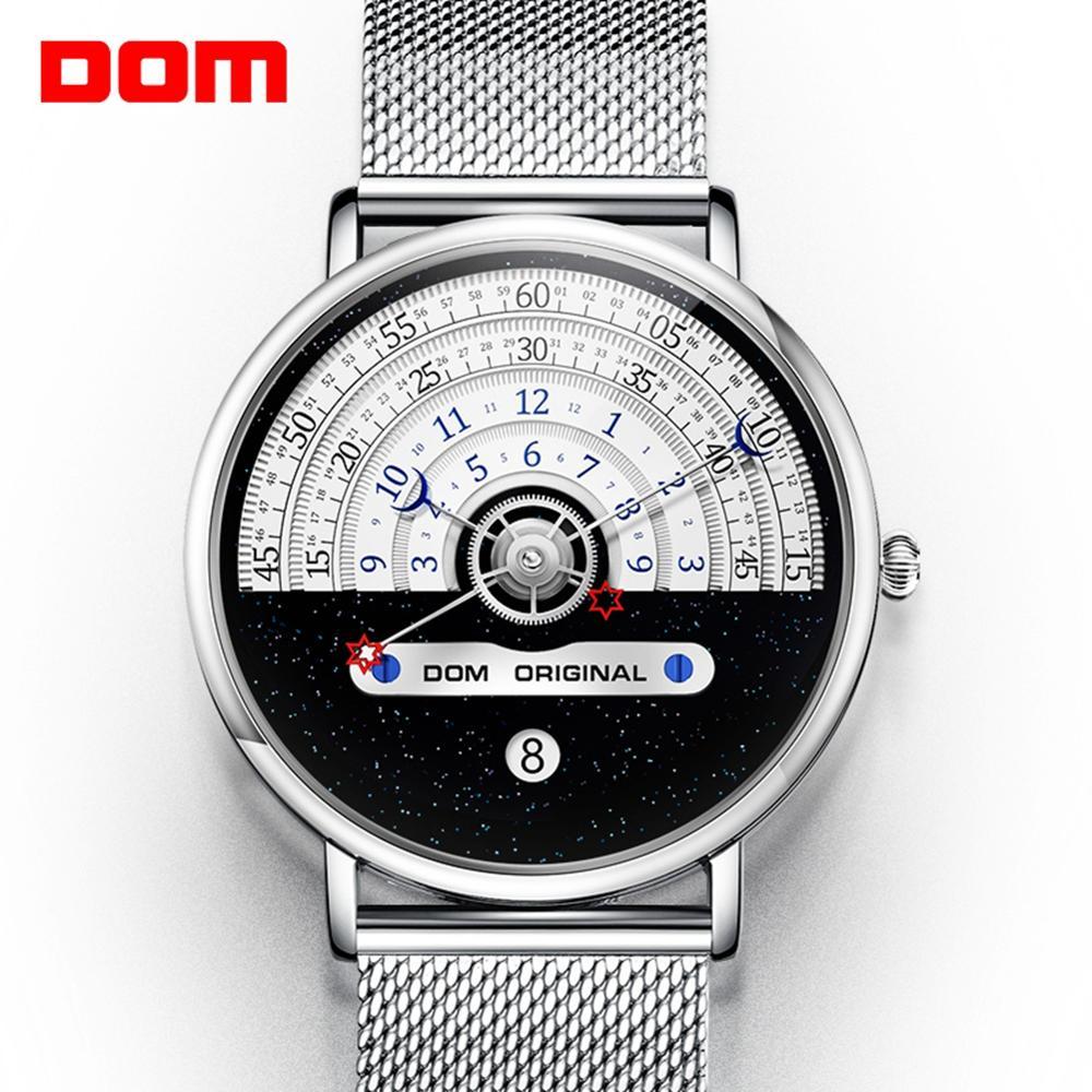 Original Fashion DOM  Watch Men Watches Quartz Men's Watches Male Waterproof Wristwatch Luxury Mens Gold Clock M-1288GK-9M