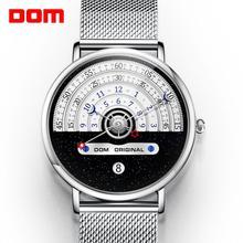 Original Fashion DOM  Watch Men Watches Quartz Mens Watches Male Waterproof Wristwatch Luxury Mens Gold Clock M 1288GK 9M