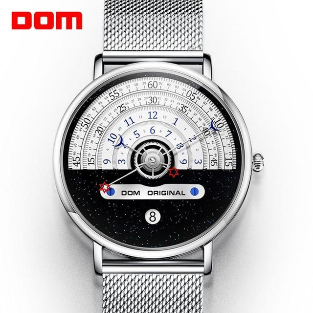 Original moda dom relógio masculino relógios de quartzo masculino à prova dwaterproof água relógio de pulso de luxo dos homens ouro M 1288GK 9M
