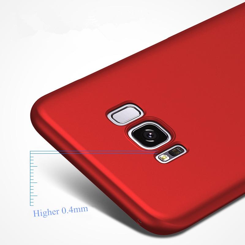Samsung Galaxy S8 Fosco Sərt PC Tutqun örtüklü dəri qabığı - Cib telefonu aksesuarları və hissələri - Fotoqrafiya 5