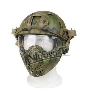 Image 3 - Volledige Gezicht Tactical Combat Helm Met Masker Militaire Airsoft Schieten Hoofd Beschermende Helmen Jacht Cs Wargame Helmen Masker