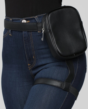 BQ Fashion INS Hot Trendy Stylish Women Waist Leg Belt Leather Cool Girl Bag Fanny Pack For Outdoor Hiking Motorcycle 1