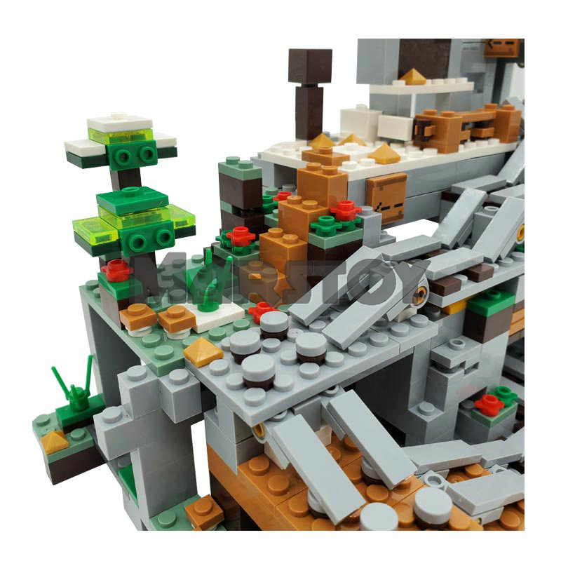 The Mountain Cave Mine Building Blocks Toys For Kids With Action Figures Highly Detailed Colorful Bricks Miniature Landscape