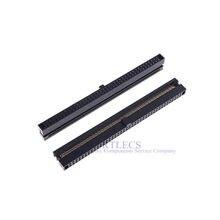 2-х контактный двухрядный разъем IDC, 0,050 дюйма, 1,27 мм, 2x40 P, 80 позиций, прямоугольная гнездовая розетка, ленточный кабель, 2 шт.