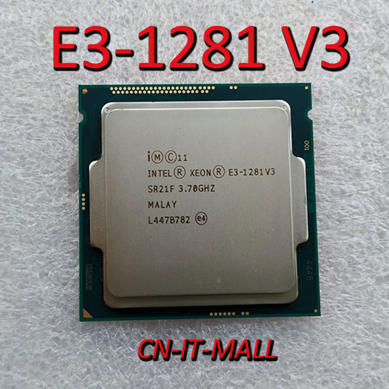 Intel Xeon E3-1281 V3 CPU 3.7GHz 8M 4 Core 8 Threads LGA1150 Processor
