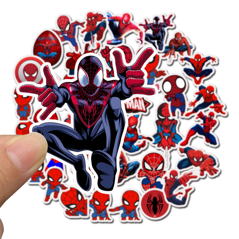 35Pcs/pack Marvel Stickers  Cute The Avengers for Sticker Book Luggage Laptop Motorcycle Refrigerator Toys Pegatinas