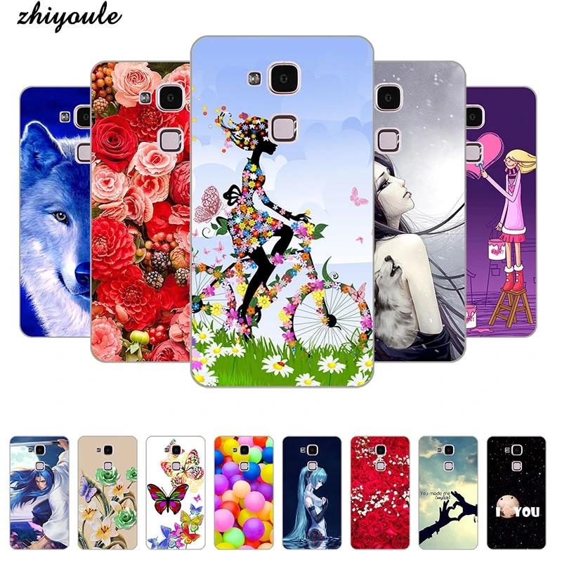 Hard Case For Huawei Ascend Mate 7 MT7-L09 Back Cover Flower Plants Original Hard Plastic Printed Cute Animal Phone Case