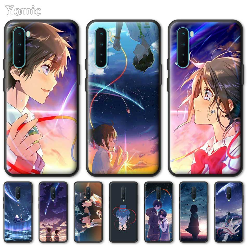 Silicone Phone Case For OnePlus Z 8 Nord 6T 6 7 7T Pro 5G Black Soft Coque Kiminonawa Your Name Anime TPU Cover Shell