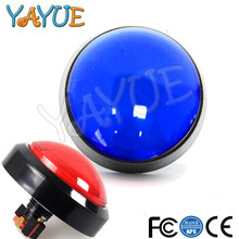 1pcs 60mm Big Round arcade Push Button LED Illuminated with Microswitch for DIY Arcade Game Machine Parts 12V Large Dome Light(China)