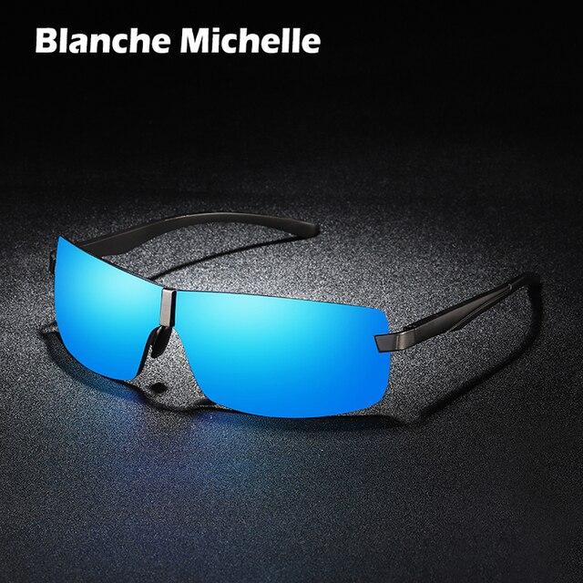 BM Aluminum Frame Polarized Sunglasses Men UV400 Brand Designer Driving Sun Glasses Male Goggle Mirror vintage oculos masculino