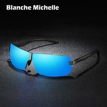 Bm Aluminium Frame Gepolariseerde Zonnebril Mannen UV400 Merk Designer Rijden Zonnebril Mannelijke Goggle Spiegel Vintage Oculos Masculino