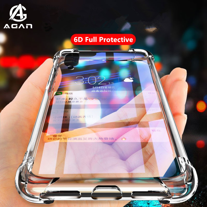 Airbag Transparent TPU Case For ZTE Axon 10 10s Pro Nubia X Play Red Magic 3 3s 5G Lenovo Z6 Pro Lite Z5s Soft Silicone Cover(China)