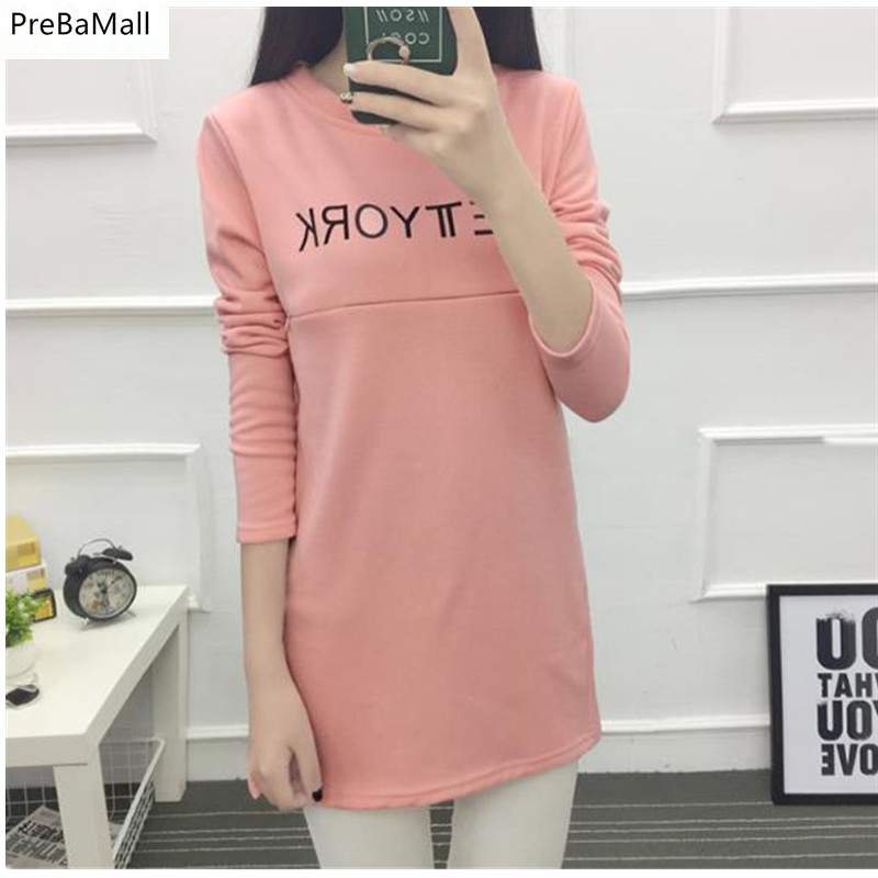 Maternity Tee Shirts 2019 Autumn Loose Nursing Clothes Tops For Pregnant Women Breastfeeding T-Shirt  Pregnancy Clothing  B0065