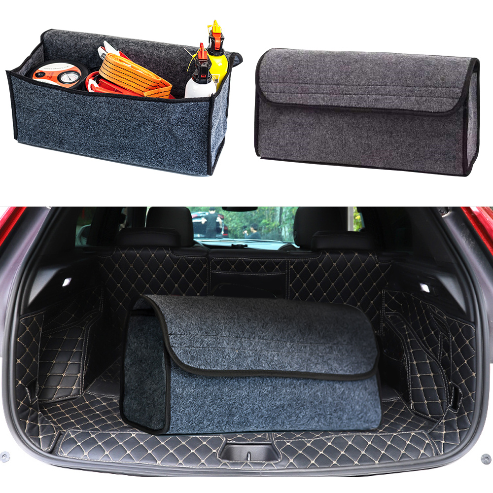 Portable Foldable Car Soft Felt Storage Box Trunk Bag Vehicle Tool Box Multiuse Tools Organizer Bag Carpet Folding Emergency Box